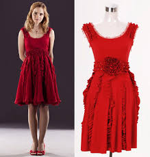 harry potter and the deathly hallows hermione granger red dress