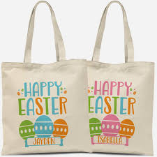 personalized easter eggs personalized easter tote bag happy easter eggs