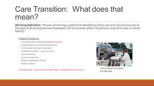 Comfort Level Definition Deploying Care Coordination And Care Transitions Illinois Ppt