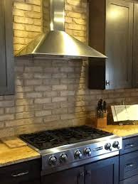 Brick Veneer Kitchen Backsplash Home Design Ideas Brick Veneer - Brick veneer backsplash