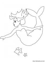 mermaid coloring u0026 clipart