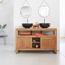 teak bathroom furniture colonial duo washstand tikamoon