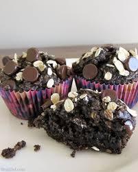 healthy chocolate oatmeal muffins no flour no sugar no oil