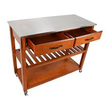 46 off crosley crosley natural wood top kitchen cart and island