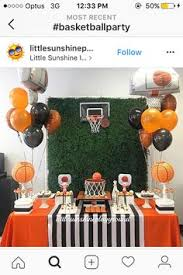 basketball party table decorations munch madness basketball party party planning and madness