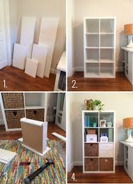 Ikea Bookshelf Boxes Building U0026 Organizing An Ikea Kallax Shelf For Your Home Office