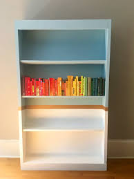 Modern Bookcase White by Using Paint To Bring Modern Style To A Bookcase Annie Sloan U0027s