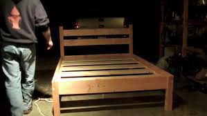bed frames diy platform storage bed plans how to build a
