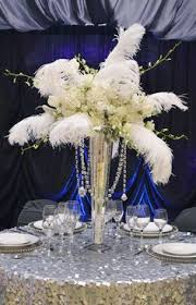 Feather And Flower Centerpieces by Beautiful Floral Feather Centerpiece By Flowers Squared 1920 U0027s