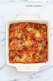 cauliflower alfredo spinach artichoke lasagna vegan richa nut