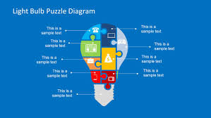 free puzzle piece template light bulb puzzle diagram template for powerpoint slidemodel light bulb puzzle diagram design for powerpoint with puzzle pieces icons