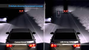 toyota global website led array adaptive high beam system youtube