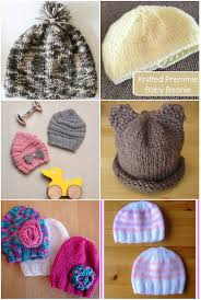 30 free crochet and knitting patterns for preemie hats underground