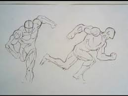 how to draw running poses male figure youtube