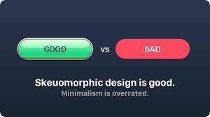 minimalistic skeuomorphic design is good minimalism is overrated uxmisfit com