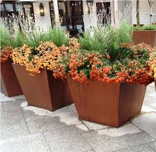 choosing a large outdoor planters front yard landscaping ideas