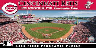 amazon com masterpieces mlb cincinnati reds stadium panoramic