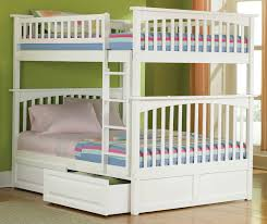 Kids Built In Desk by Kids Room Wooden T Shaped Bunk Bed Features Desk With Drawers And