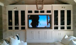 corner tv stand with glass doors builtin home theater would love to do this with standard kitchen