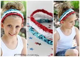 braided headbands white blue braided headbands no sew sugar bee crafts