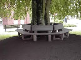 recycled plastic tree guard with integrated public bench turon