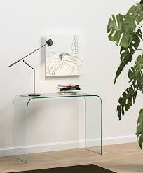 small glass console table furnitures modern glass console table feat small for entry designs 9