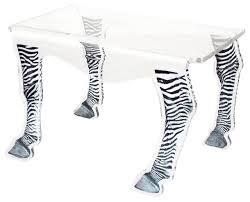 Zebra Side Table Coffee Table Zebra Legs Medium Eclectic Side Tables And End