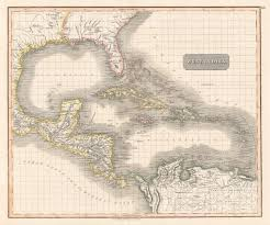 Map Of West Indies 1829 West Indies U2013 Hjbmaps Com Harlan J Berk Ltd Antique Map
