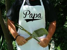 Personalized Mens Aprons Papa Apron Papa Gift Bbq Apron Papa Dad Grandpa