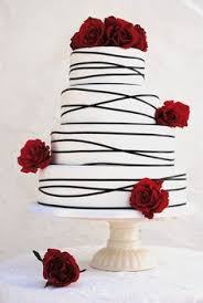 a red rose wedding cakes is one of the most graceful and perfect