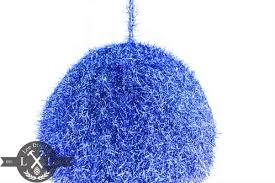 blue tinsel ornament seasonal decorations united states