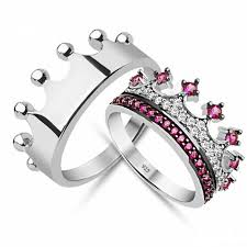 crown diamond rings images Cz crown ring king and queen rings crown engagement rings crown jpg