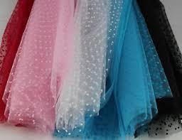 tulle fabric flocked dot tulle fabric 100 tutu bridal wedding net per