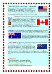 english worksheets english speaking countries worksheets page 9
