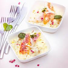 cuisiner le safran menu valentin risotto au chagne safran et rouget