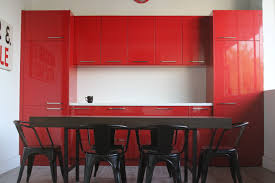 Red Cabinets Kitchen by Red Industries American Custom Cabinetry Cabinets Kitchen Bath