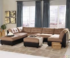 claude two tone modular sectional sofa with buttonless tufted
