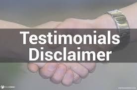 Disclaimer Testimonials Disclaimer For Financialmentor Com