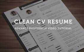 where can i get resume paper clean cv resume photoshop tutorial youtube