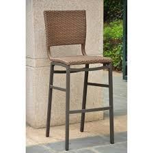 barcelona 2 piece wicker aluminum patio balcony height bar stools