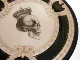 vintage thanksgiving dinnerware black and gold vintage skull salad plate by noritake 7 5