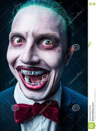bloody halloween theme crazy joker face stock photo image 76787337