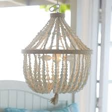 wood bead ceiling light white wood bead chandelier look 4 less and steals deals beaded