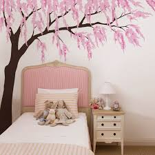 Cherry Blossom Tree Wall Decal For Nursery Playroom Large Tree Wall Decal Baby Nursery Decal Butterfly