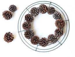 Christmas Tree Wreath Form - remodelaholic make an easy diy pinecone wreath in one hour