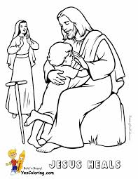 jesus heals lame boy coloring page at yescoloring http www