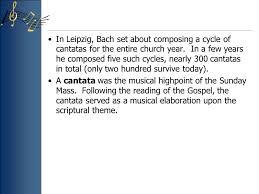 chapter 40 johann sebastian bach vocal in leipzig ppt