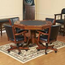 kingston oak 3 in 1 poker table w 4 arm chairs u2013 blue wave products