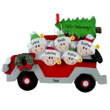 5 girlfriends away weekend car keepsake ornament personalized