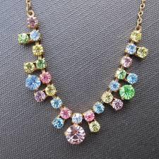 coloured crystal necklace images Vintage gems gallery jpg